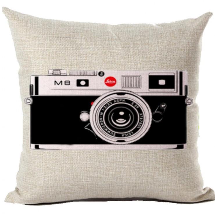 Retro 35mm Camera Decorative Throw Pillow Pillow Frenzy