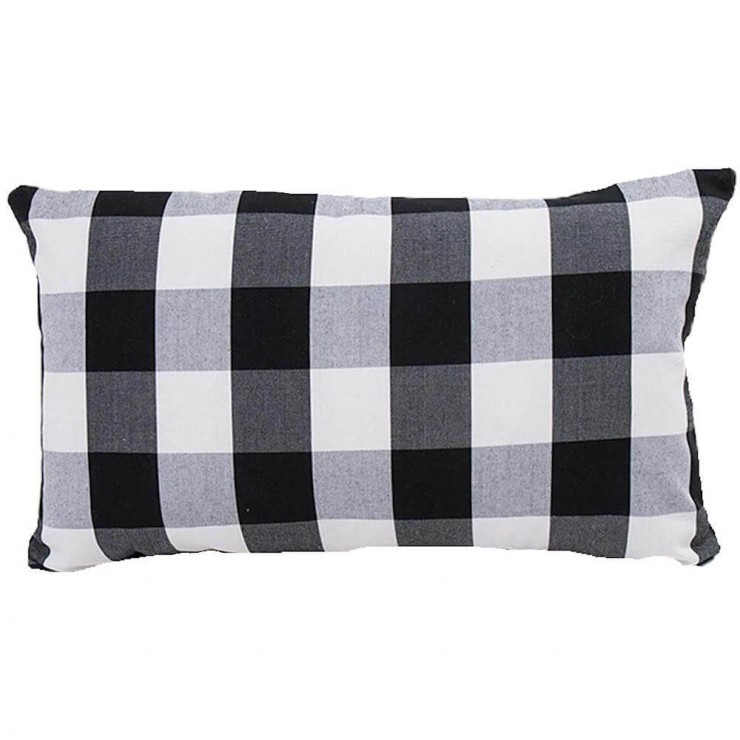 Premier Prints Solid Black Lumbar or Square Decorative Throw Pillow