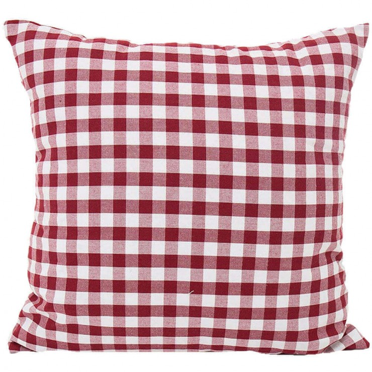 Gingham Plaid Small Check Red And White Double Sided Reversible Decorative Throw Pillow Pillow Frenzy