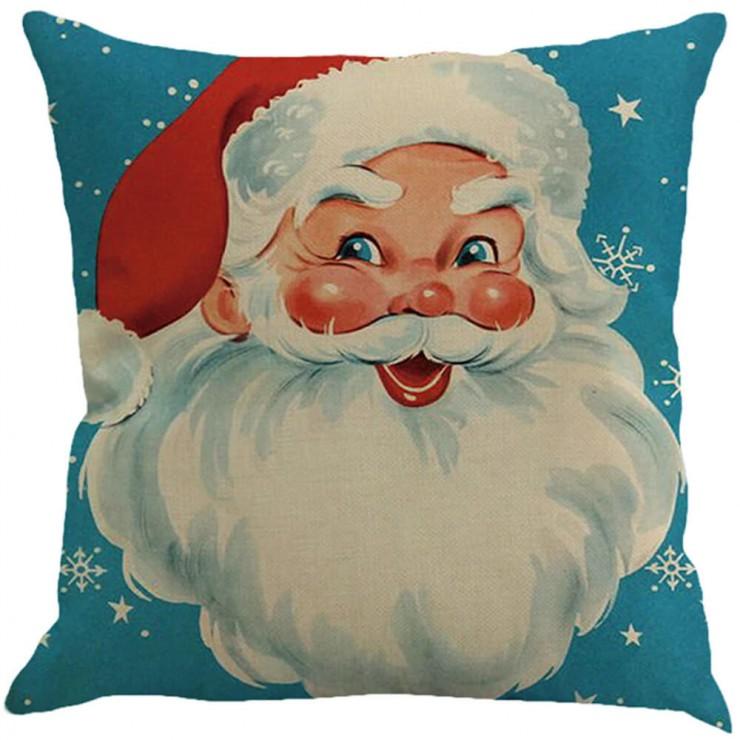 Nostalgic Santa Claus Vintage Inspired Christmas Decorative Throw Pillow Pillow Frenzy