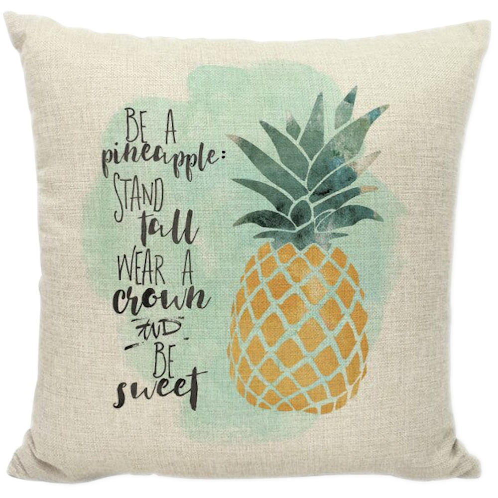 Be A Pineapple Inspirational Decorative Throw Pillow Pillow Frenzy